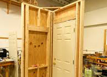 Handyman in Vancouver providing door repair services.